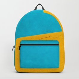 yellow blue pool Backpack