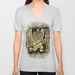 Aztec Eagle Warrior Unisex V-Neck