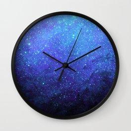 Blue Heavens: Vibrant Starfield Wall Clock