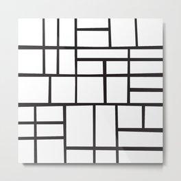 Mondrian Variation 4 Metal Print