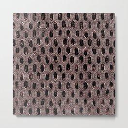 Watercolour Blackwork: 'Lozenge' Burnt Rose 1 (dark) Metal Print