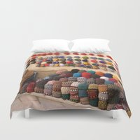 morocco Duvet Covers featuring Crochet, Morocco by Mr and Mrs Quirynen