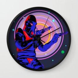 Space Gunslinger Wall Clock