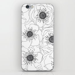 White Anemones iPhone Skin