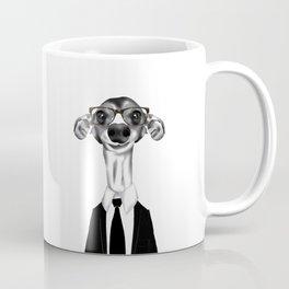 Greyhound in suit Coffee Mug