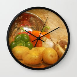 Cascading Vegetables Wall Clock