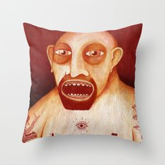 Los tattoos del sombra Throw Pillow