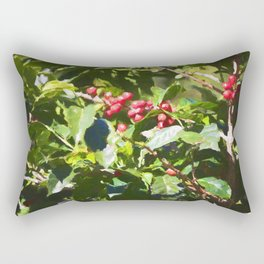 Coffee beans on vine in Panama Rectangular Pillow