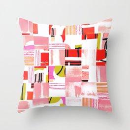 Scraps - Red Throw Pillow