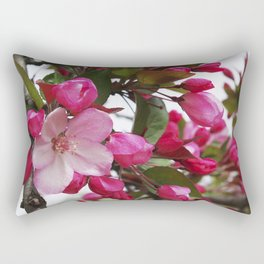 Spring blossoms - Strawberry Parfait Crabapple Rectangular Pillow