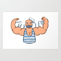 muscle Art Prints featuring Muscle Man by Alissa M. Terracciano