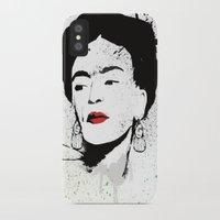 frida iPhone & iPod Cases featuring Frida by Cynthia Alvarez