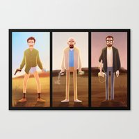 chemistry Canvas Prints featuring Chemistry by Anna Rettberg