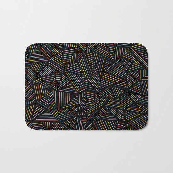 Ab Linear Rainbow Black Bath Mat