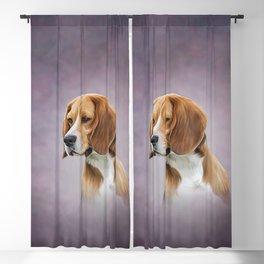 Drawing Dog Beagle 11 Blackout Curtain
