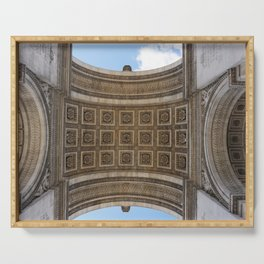 View from Under: Arc de Triomphe Serving Tray