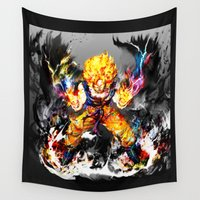 goku Wall Tapestries featuring Goku by ururuty