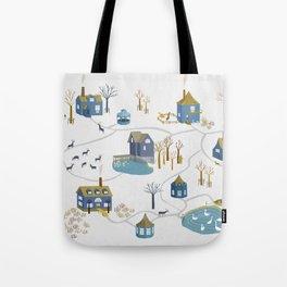BLUE VILLAGE Tote Bag