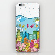 Birds In The City iPhone & iPod Skin