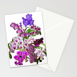 Orchids, cool and calming colors Stationery Cards