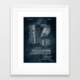 Grand Piano patent Framed Art Print