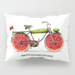 ORGANIC INVENTIONS SERIES: Vintage Watermelon Bicycle Pillow Sham