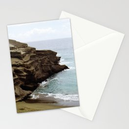 Green Sand Beach Stationery Cards