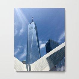 Sunlit Freedom Tower NYC Metal Print