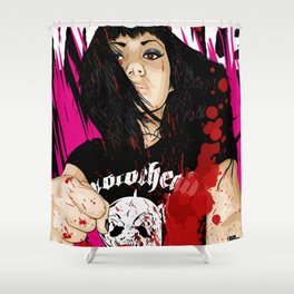 VIOLENCE Shower Curtain