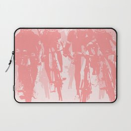 Cyclists in the sprint pink Laptop Sleeve