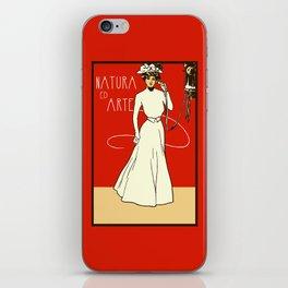Nature ed Arte, Italian Lady on an antique telephone iPhone Skin