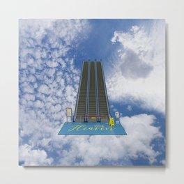 In Heaven - Au Ciel Metal Print