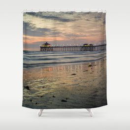 HB Sunsets  1-1-18 Shower Curtain
