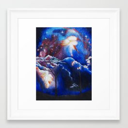 Vexing Galaxy Framed Art Print