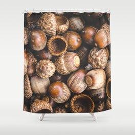 Squirrel Harvest Shower Curtain