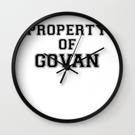 Property of GOVAN Wall Clock