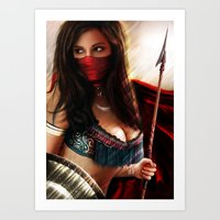 persian Art Prints featuring Persian Warrior by Gerald Jelitto