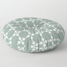 Droplets Pattern - White & Sage Green Floor Pillow