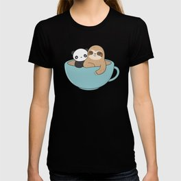 Kawaii Cute Panda and Sloth T-shirt