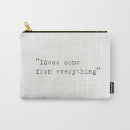 """Ideas come from everything""  Alfred Hitchcock Carry-All Pouch"