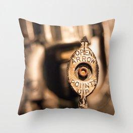Valve Steam Throw Pillow