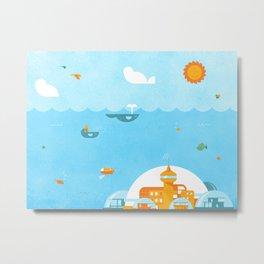 An Ocean Day Metal Print