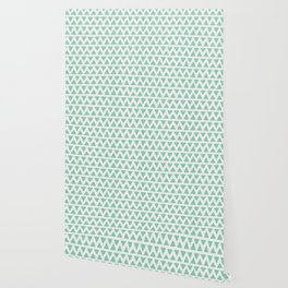 Shapes Nr.1 - Teal Triangles Pattern Wallpaper