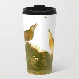 Brown Lark Bird Travel Mug