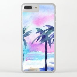 Summer vibes #3 || watercolor Clear iPhone Case