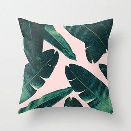 Banana Leaves - Cali Vibes #1 #tropical #decor #art #society6 Throw Pillow