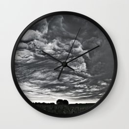 Storm Rolling In Wall Clock