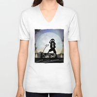 mcfly V-neck T-shirts featuring McFly Kid by Andy Fairhurst Art