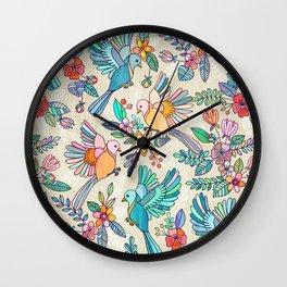 Whimsical Summer Flight Wall Clock