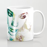 asia Mugs featuring Asia by J. Ekstrom